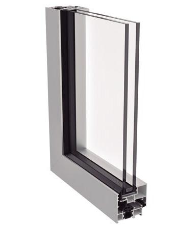 Sistema de ventana y puerta practicable ARS-62 HO vista frontal