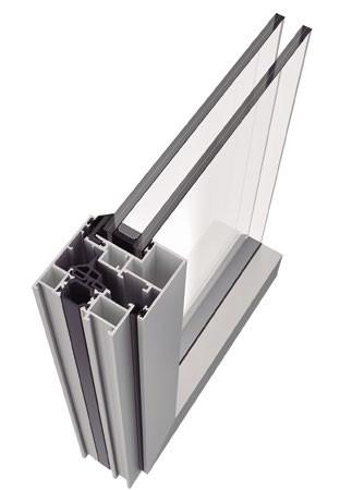 Sistema de ventana y puerta practicable ARS-62 HO vista superior