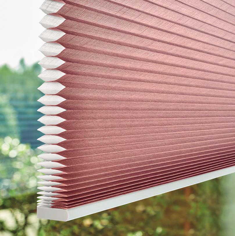 La cortina Duette® permite elegir entre diferentes grados de privacidad