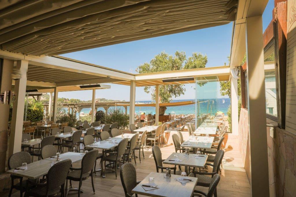 pergola para terraza de comedor de restaurante