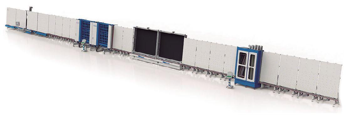Línea de doble acristalamiento con perfil de aluminio
