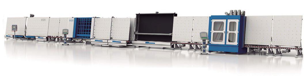 Línea de doble acristalamiento de alta velocidad con doble posición