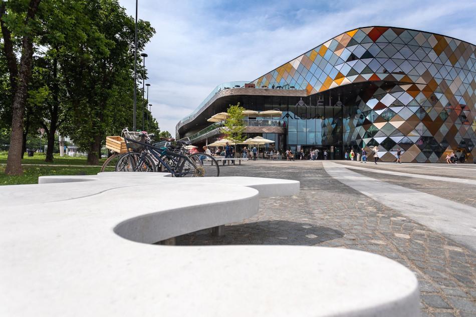 Centro comercial Aleja, uno de los lugares más modernos de Liubliana.